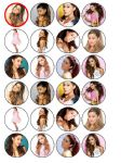24 x Ariana Grande Edible Rice Wafer Paper Cupcake Top Toppers